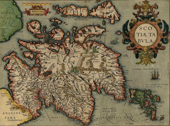 Abraham Ortelius - Scotiae Tabula.