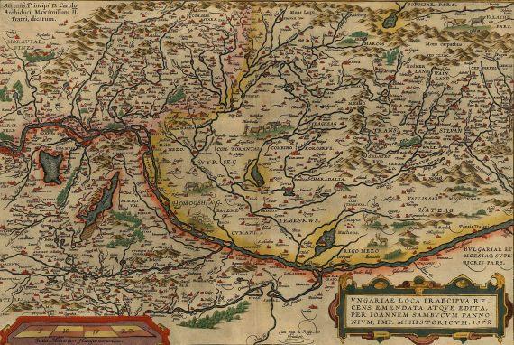 Abraham Ortelius - Ungariae loca.