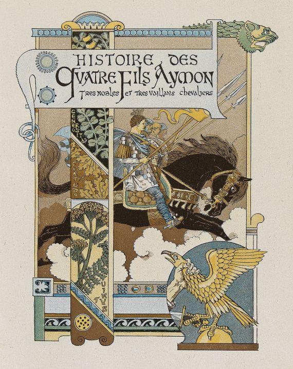 Eugène Samuel Grasset - Histoire des quatre fils Aymon. 1883.