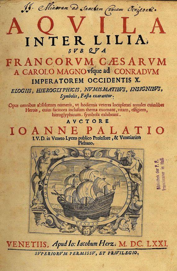 Johannes Palatius - Aquila. 6 Tle. 1671 und 1679.