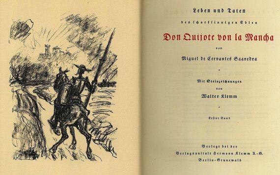 Miguel de Cervantes Saavedra - Don Quijote, 2 Bde.