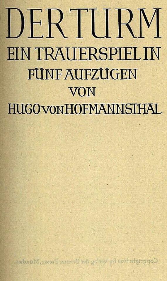 Hugo von Hofmannsthal - Der Turm