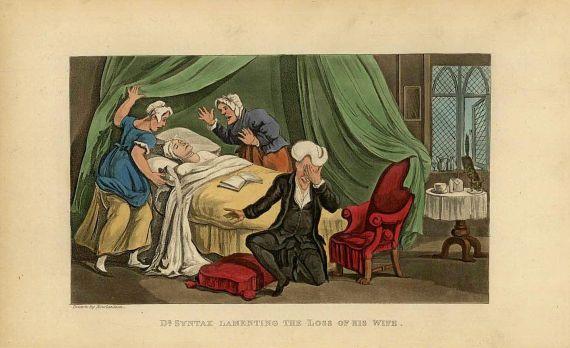 Henry Monnier - Genredarstellungen und Karikaturen aus der Medizin.