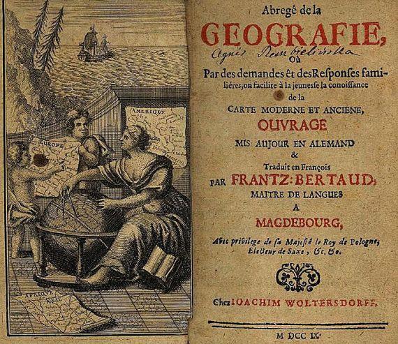 Johann Hübner - Abregé de la geographie.