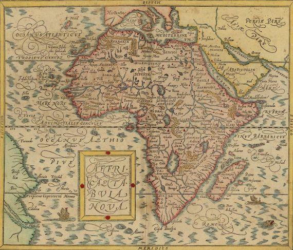 Sebastian Münster - Affricae tabula nova. - Africa, Lybia, Mornelandt, mit allen Königreichen ...