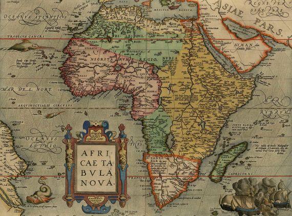 Abraham Ortelius - Africae tabula nova.