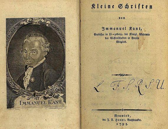 Immanuel Kant - Kleine Schriften. 1793. EA.