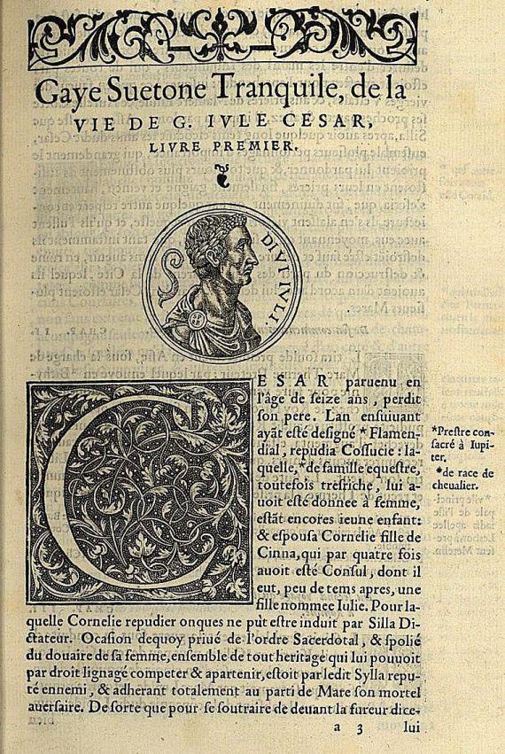 Gaius Suetonius Tranquillus - De la vie de des XII cesars. 1556.