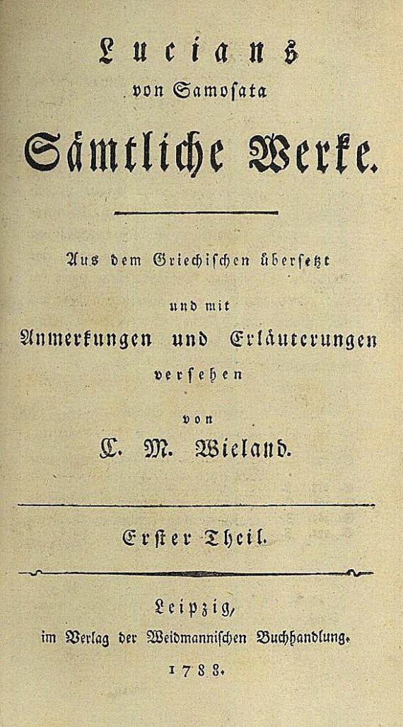 Lucians von Samosata - Sämtliche Werke, 6 Bde.