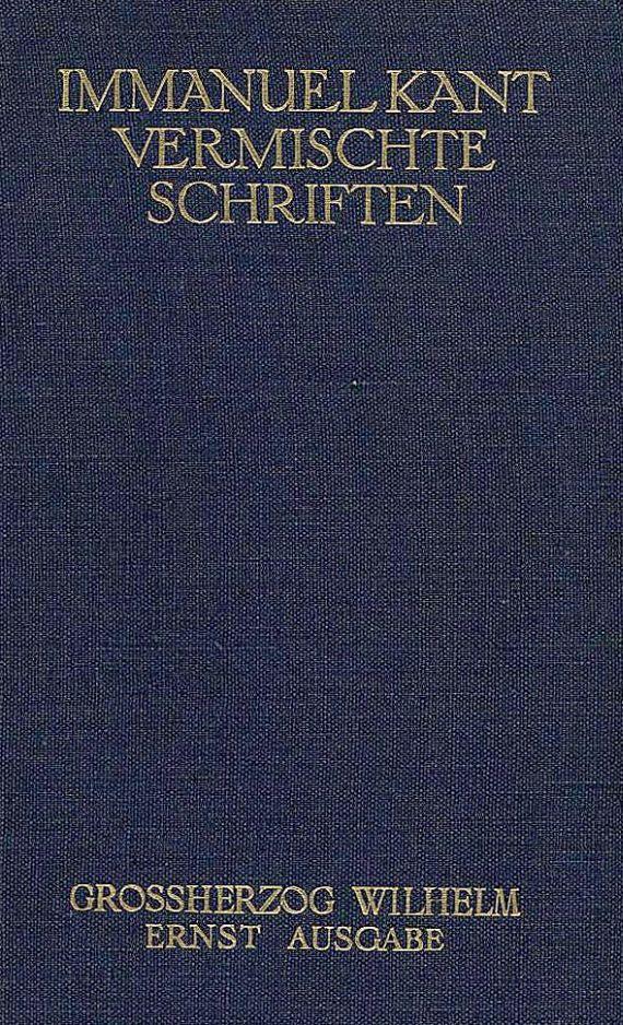 Immanuel Kant - Sämtliche Werke, 6 Bde.