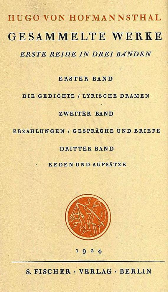 Hugo von Hofmannsthal - Werke, 6 Bde.