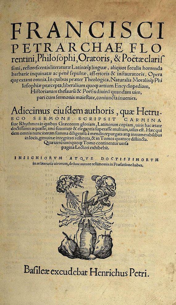 Francesco Petrarca - Opera. 1554.