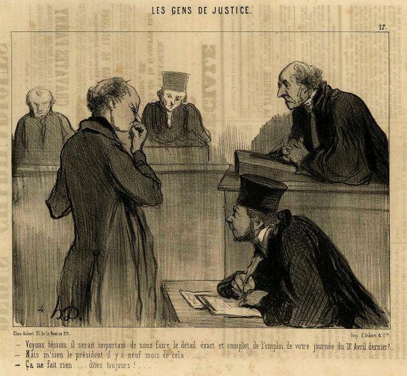 Honoré Daumier - Les gens de justice.