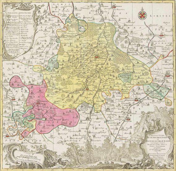 Matthäus Seutter - Praefecturae Altenburgensis et Ronneburgensis ... tabula.