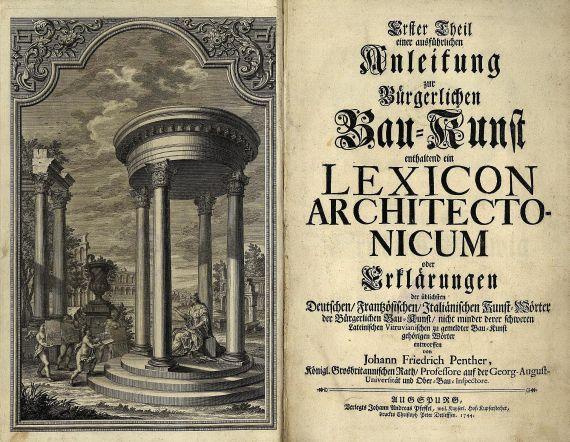 Johann Friedrich Penther - Ausführliche Anleitung ... 4 Tle. 1744-48.