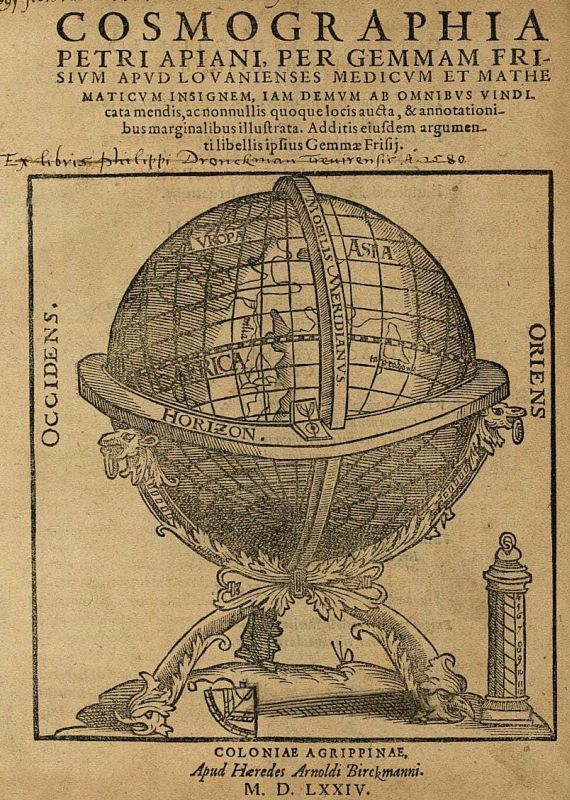 Peter Apian - Cosmographia. 1574.