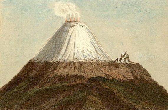 Alexander von Humboldt - Volcans des cordillères. 1854.