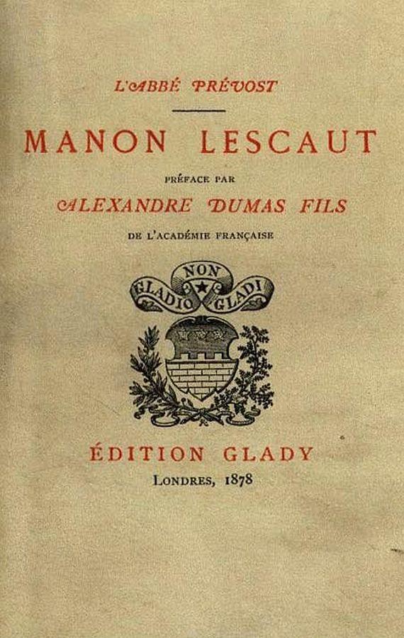 L'Abbé Prévost - Histoire de Manon Lescaut