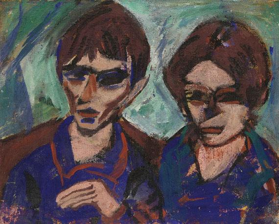 Paul Kother - Doppelporträt (Otto Mueller und seine Frau Maschka)