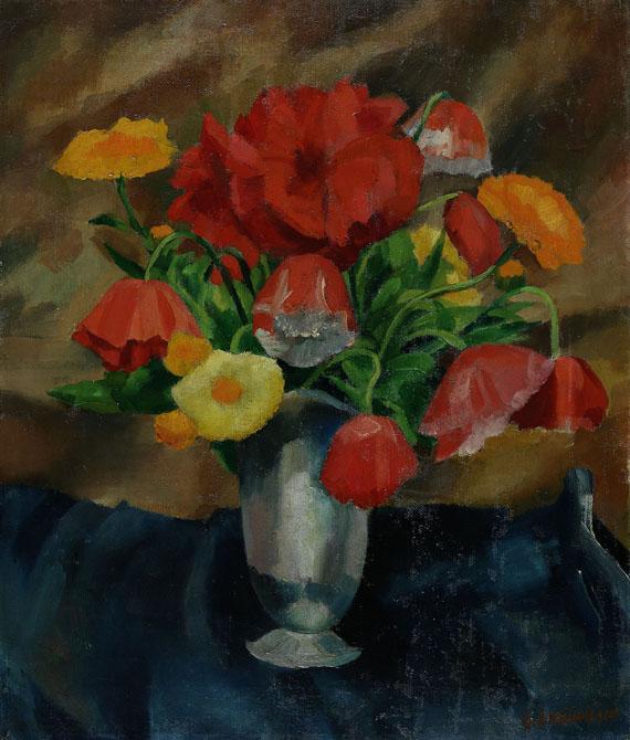 Georg Breitwieser - Stillleben mit Blumenvase