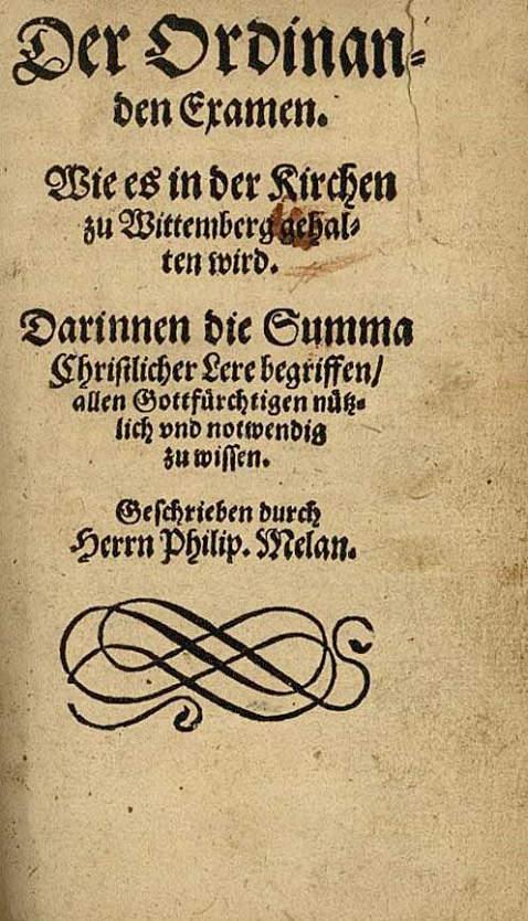 P. Melanchthon - Examen. 1564.