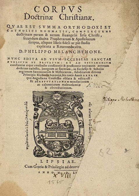 P. Melanchthon - Corpus doctrinae christianae. 1565.