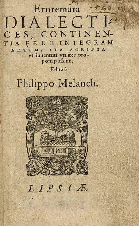 P. Melanchthon - Erotemata dialectices. 1584.