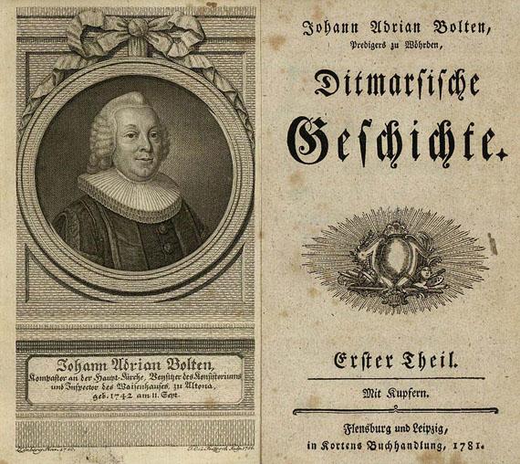 Bolten, J. A. - Ditmarsische Geschichte, 4 Bde. 1781-1788