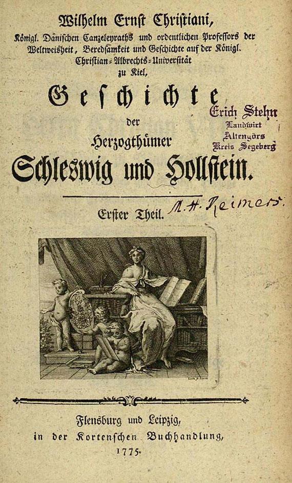 Christiani, W. E. - Geschichte Schleswig und Hollstein, 8 Bde. 1775-1802