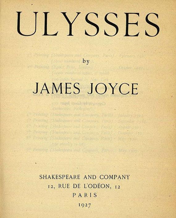 James Joyce - Ulysses. 1927