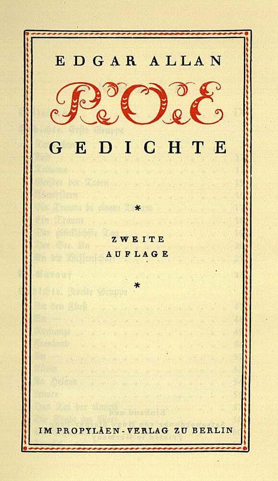Edgar Allen Poe - Werke.  6 Bde.