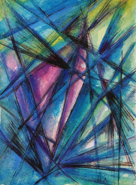 Michail Larionov - Abstrakte rayonistische Komposition
