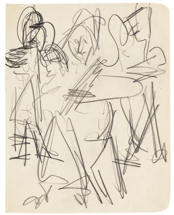 Ernst Ludwig Kirchner - Skizze zu Bauerntanz