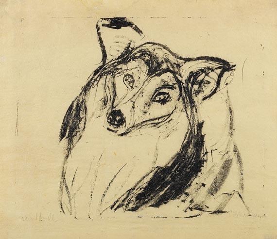 Ernst Ludwig Kirchner - Hundekopf