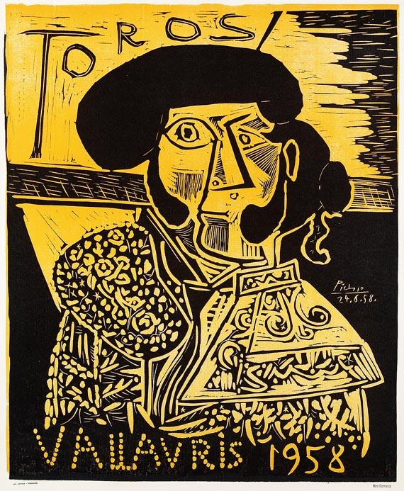 Pablo Picasso - Plakat: Toros Vallauris 1958