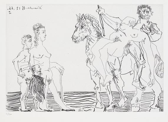 Pablo Picasso - L'Enlèvement avec spectateurs