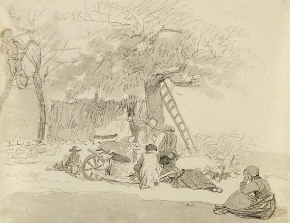 Johann Christian Klengel - Bauern beim Obstpflücken