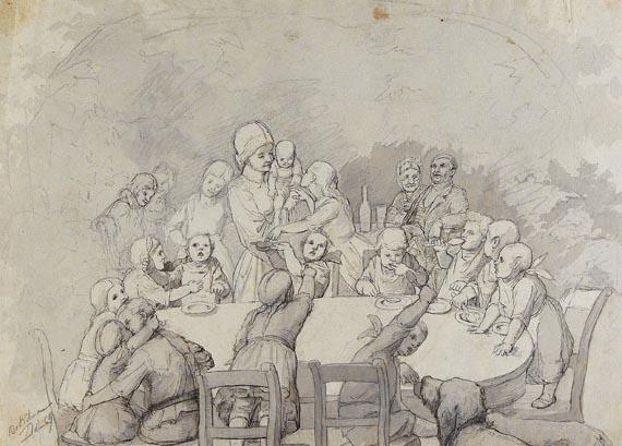 Christian Ludwig Bokelmann - Großes Album mit 58 Zeichnungen