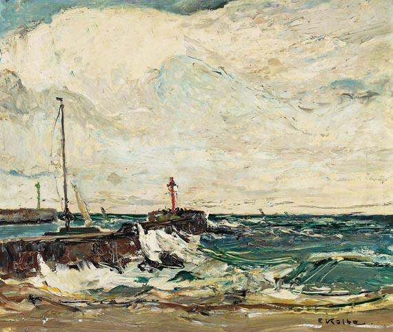 Ernst Kolbe - Hafen von Stolpemünde an der Ostsee