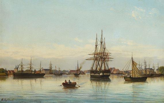 C. Lybbert - Schiffe im Hafen