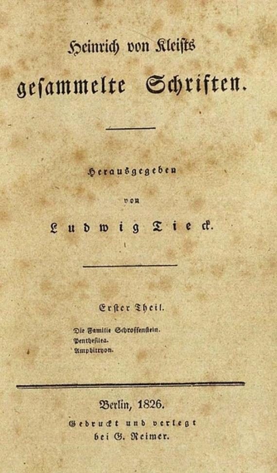 H. von Kleist - Werke. 3 Bde. 1826
