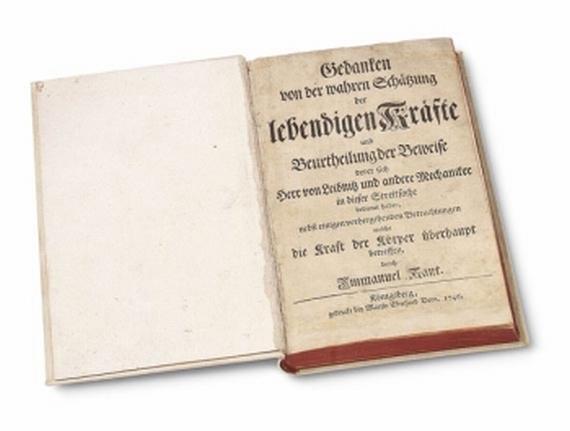 Immanuel Kant - Gedanken von der wahren Schätzung ... 1746.
