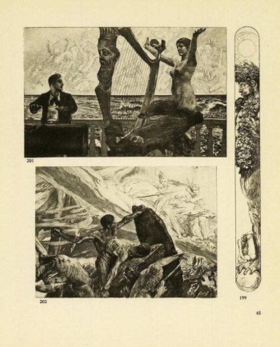 Max Klinger - Radierungen, Stiche, Steindrucke. 1908/1909