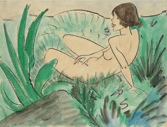 Otto Mueller - Mädchen im Dünengras