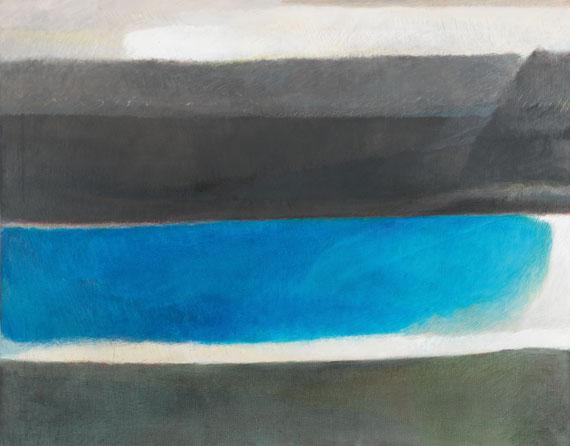 Georg Meistermann - Staffelung im Blau (Schichten)