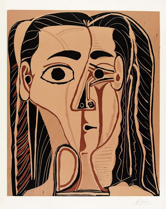 Pablo Picasso - Jacqueline au bandeau de face