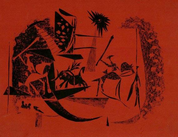 """Sabartés - """"A los toros"""" mit Picasso. 1961."""