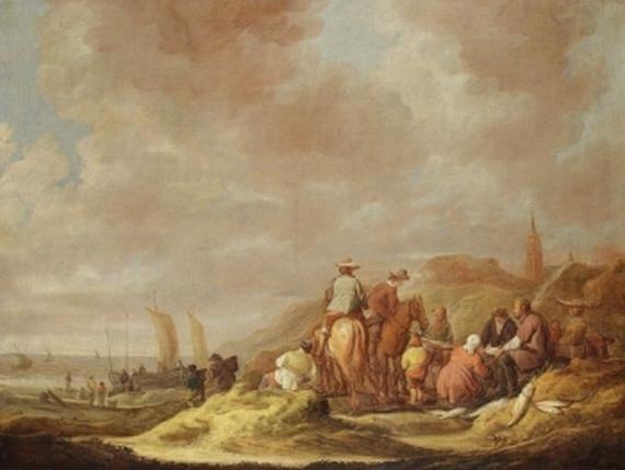 Benjamin Gerritsz. Cuyp - Strandlandschaft vor Scheveningen