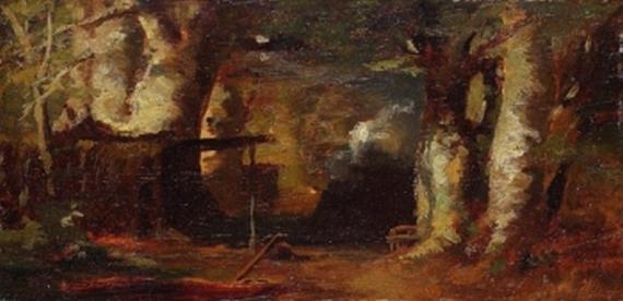 Carl Spitzweg - Der Wald von Barbizon