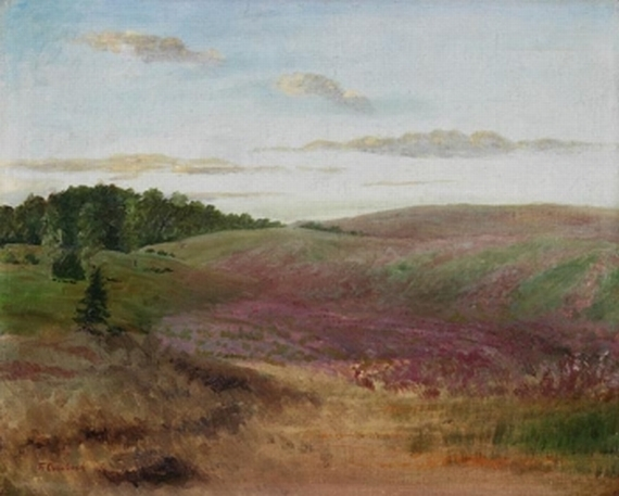 Fritz Overbeck - Landschaft mit Buchweizenfeldern